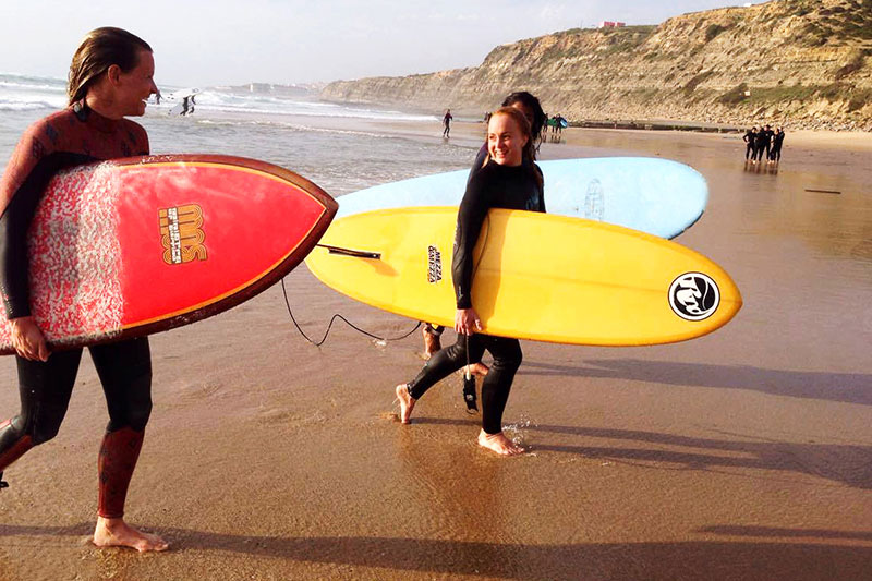 Amar Hostel Surfcamp Surf Surfing Holidays Vacations Ericeira Portugal